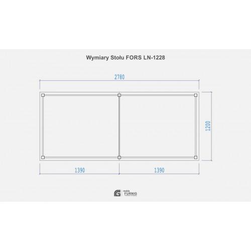 Stół FORS LN-1228 (120x278)